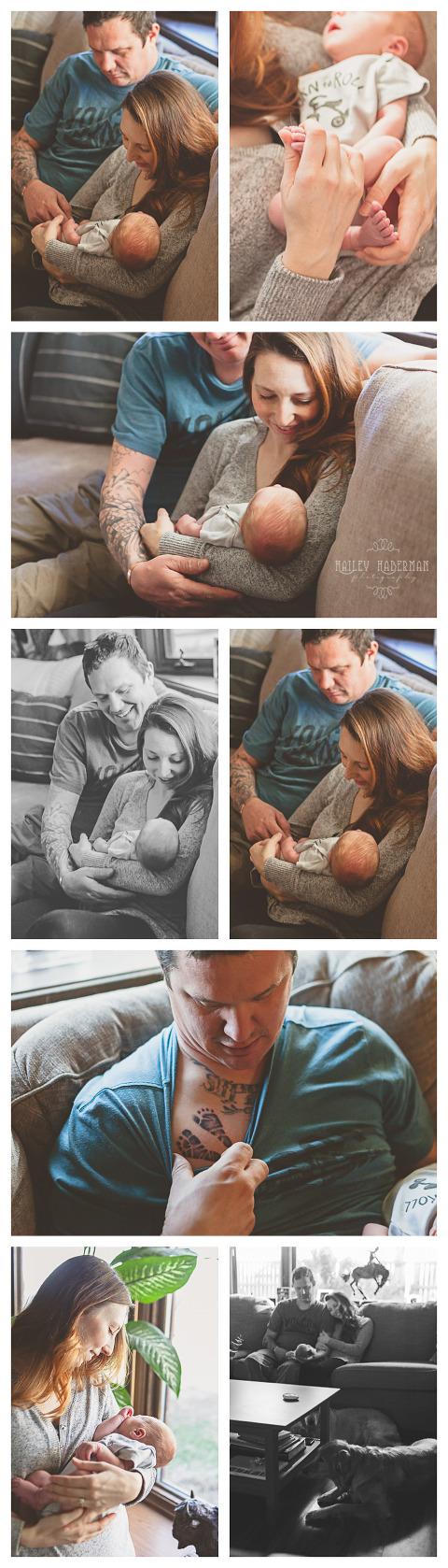 PNW Lifestyle Newborn Baby Wyatt by Hailey Haberman in Ellensburg WA