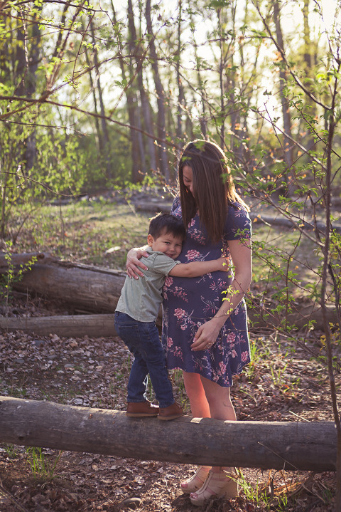 backlight mom and toddler, Spring Maternity Session with Alex and Connor by Hailey Haberman Lifestyle Photographer in Ellensburg WA