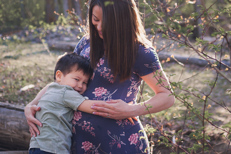 mom and toddler, Spring Maternity Session with Alex and Connor by Hailey Haberman Lifestyle Photographer in Ellensburg WA