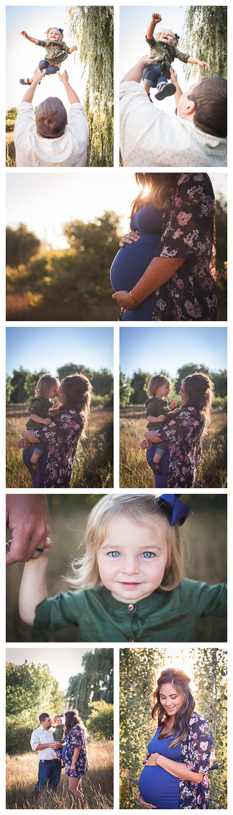Rachel's baby bump, golden hour family and maternity lifestyle session in Ellensburg WA by Hailey Haberman