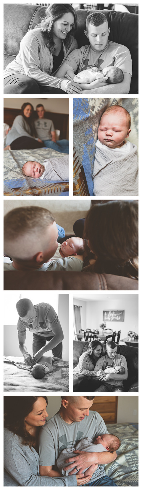 Baby Dash with parents at Lifestyle newborn session by Hailey Haberman in Ellensburg WA