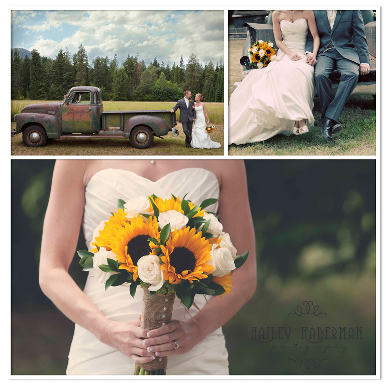 Ritter Farms Cle Elum Wedding photos of bride's bouquet and bride and groom