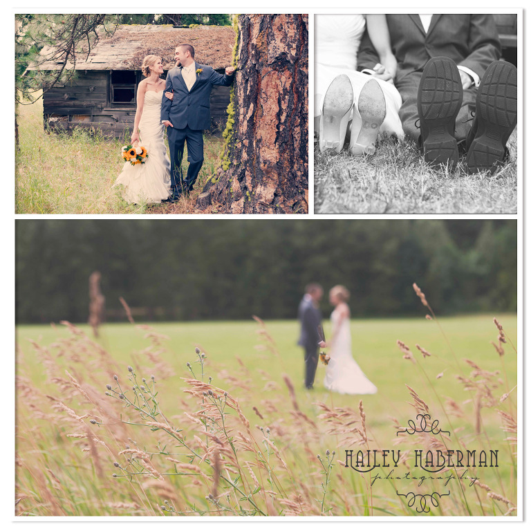 Ritter Farms Cle Elum Wedding photos of bride and groom in country setting