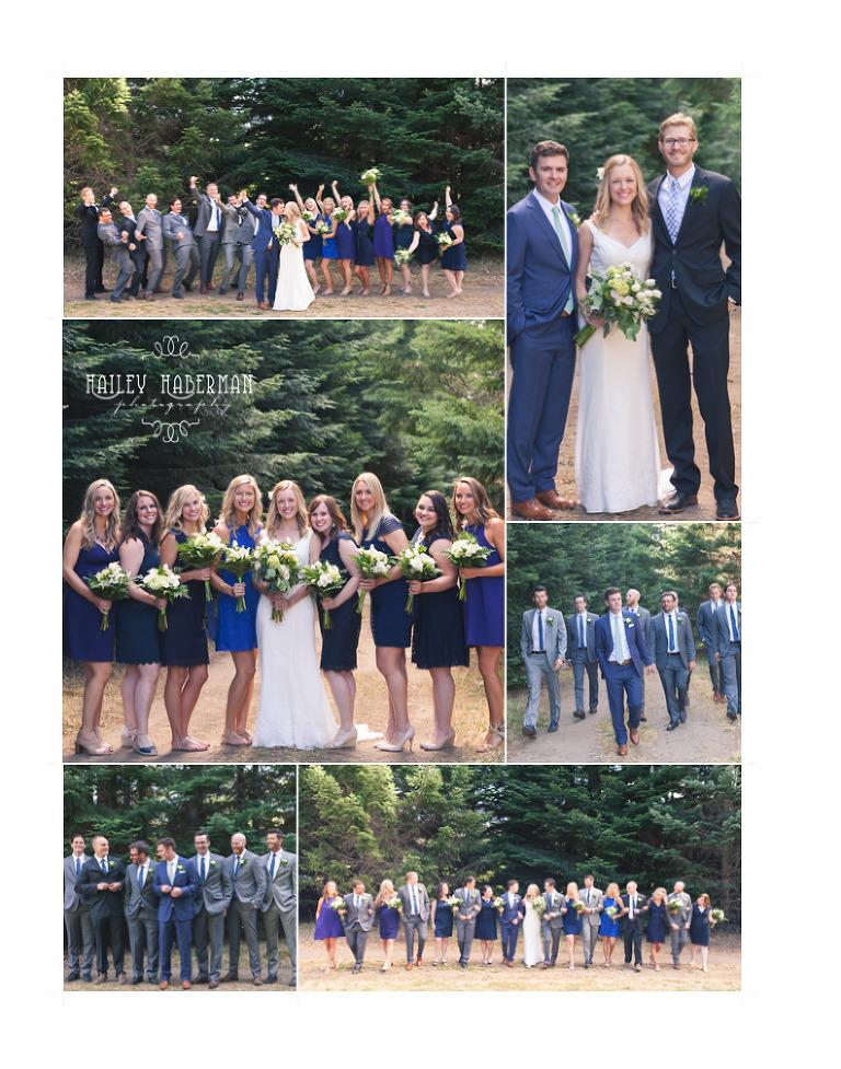 Ritter Farms Rustic Mountain Wedding photos of bridesmaids groomsmen and bridal party