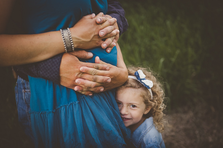 holding baby bump, Ellensburg Maternity Session with Megan & Kyle at Olmstead State Park in Ellensburg WA by Hailey Haberman Lifestyle Family Photographer