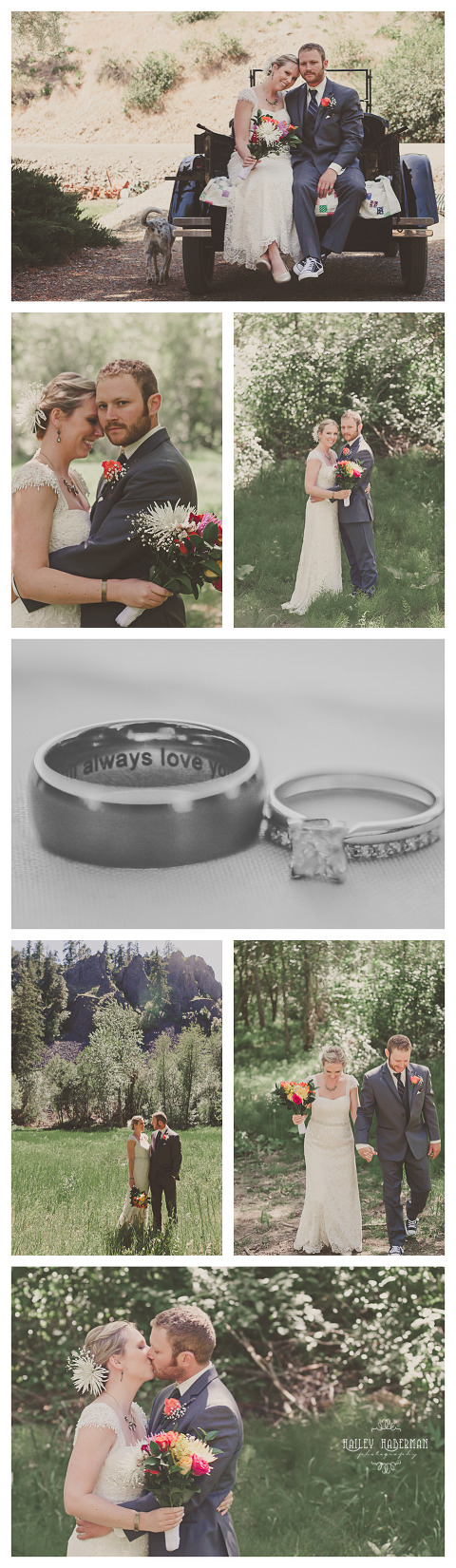 Vintage Mountain Wedding in Manastash Canyon near Ellensburg Wa photographed by Hailey Haberman Wedding Photographer