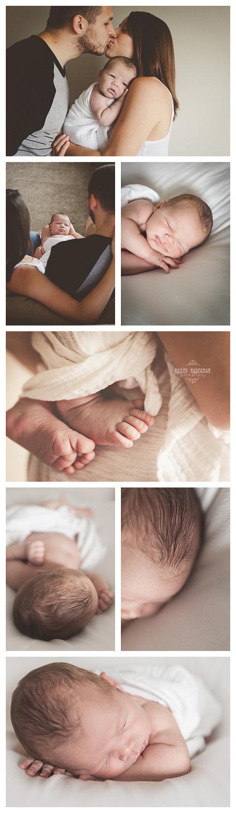 Baby Kobe in lifestyle newborn session with Hailey Haberman in Ellensburg WA