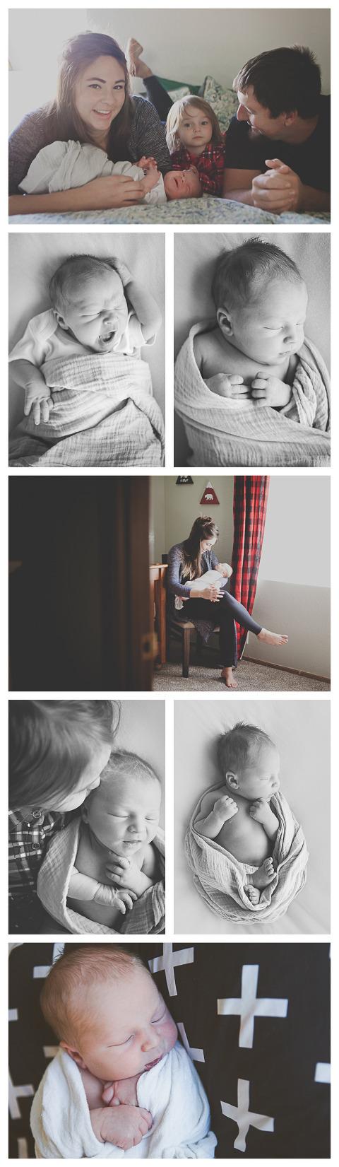 Baby Beau captured by Hailey Haberman Ellensburg Lifestyle Newborn Photographer