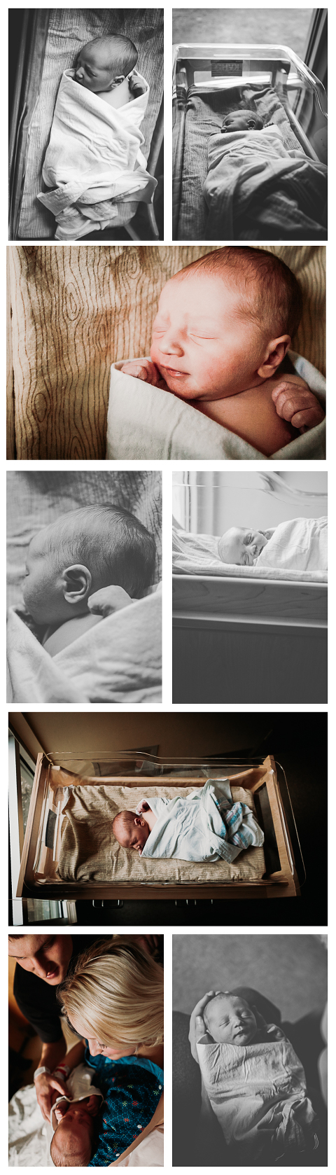 Baby Cayson, lifestyle newborn session at the hospital by Hailey Haberman Photography in Ellensburg WA