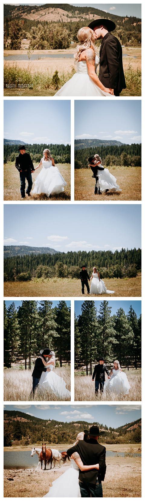 Bride and Groom portraits,Ryan and Amber married at The Cattle barn in Cle Elum, WA, photographed by Hailey Haberman Ellensburg Wedding Photographer